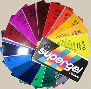 Свотч-бук цветных фильтров Rosco Supergel