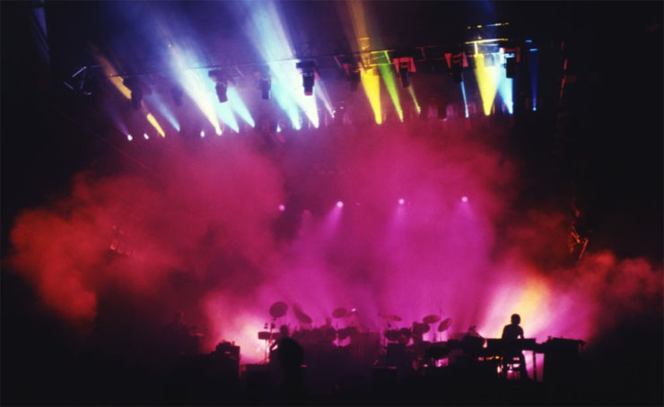 Первые движущиеся головы на выступлении группы Genesis, 1980 год